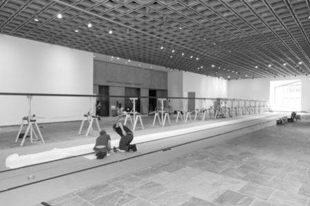 Robert Irwin installation at the Whitney