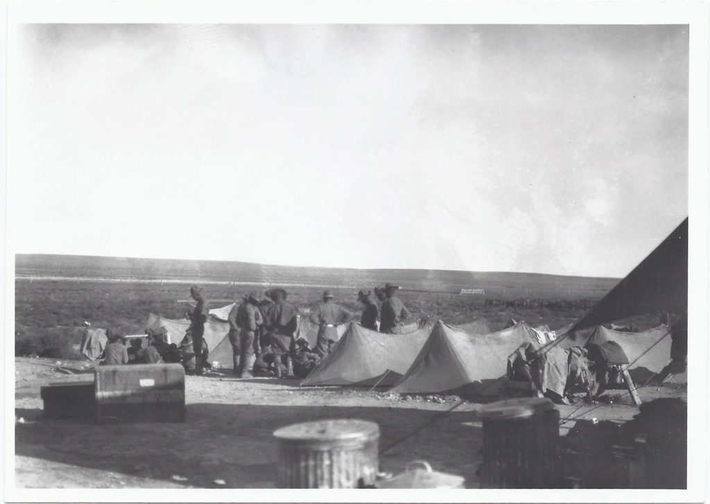 1st U.S. Cavalry on maneuvers. October 1927. Camp Marfa, TX.