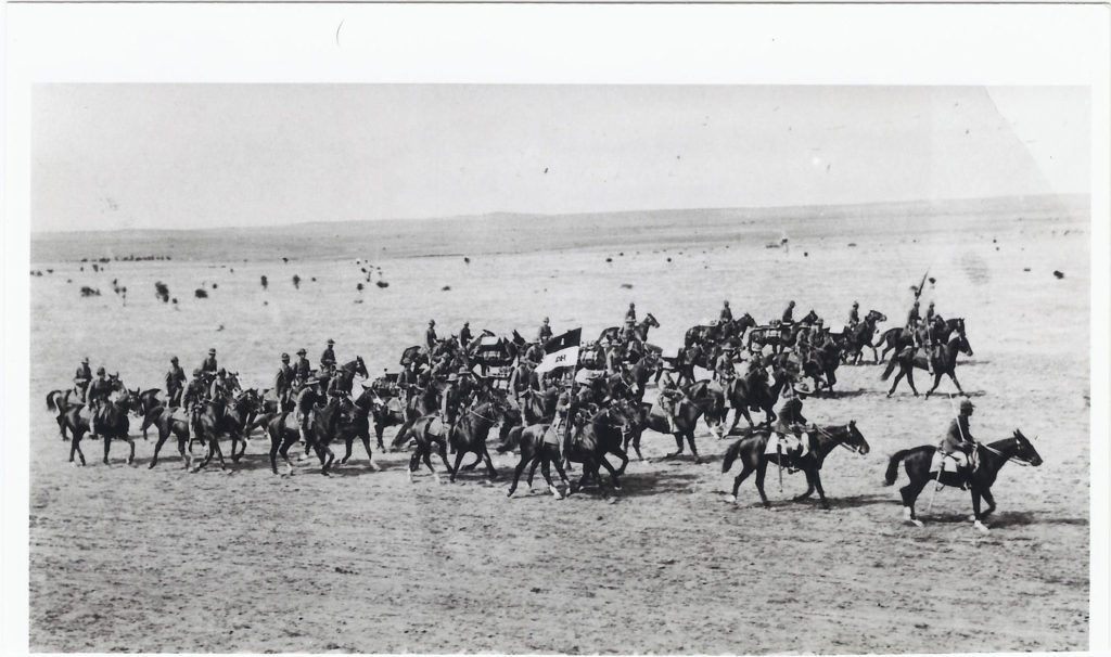 1st U.S. Cavalry on parade. October 1927. Camp Marfa, TX.