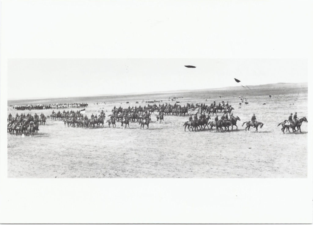 1st U.S. Cavalry on parade with radio sections. October 1927. Camp Marfa, TX.
