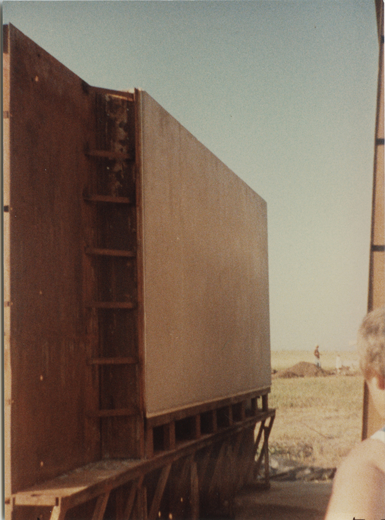Concrete works: installation view showing form work