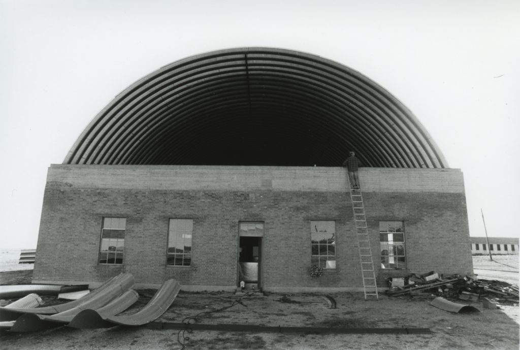 Artillery Shed, roof construction