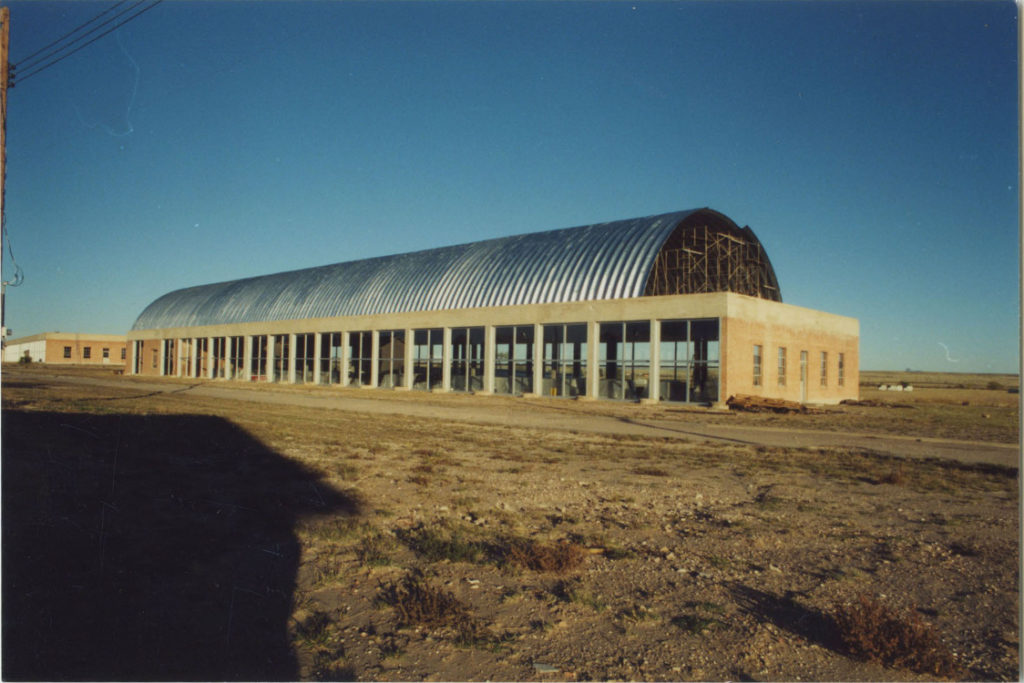 Roof construction, south shed