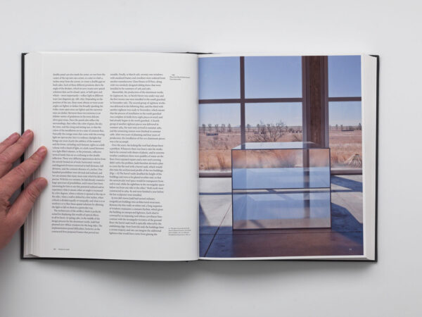 Chinaiti: the Vision of Donald Judd open to a page of text and images