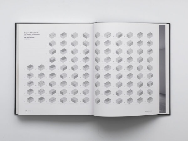 Chinaiti: the Vision of Donald Judd open to a page of images