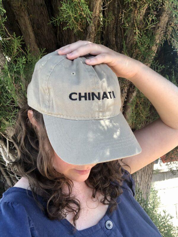 Abby in the tan Chinati cap