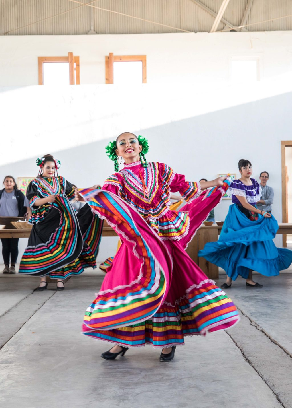 Marfa High School's Ballet Folklórico Aztlán performing during The Chinati Foundation's Annual Community Day