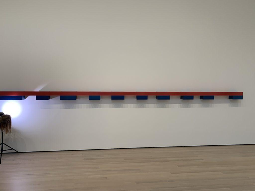 Judd progression installed in MoMA gallery