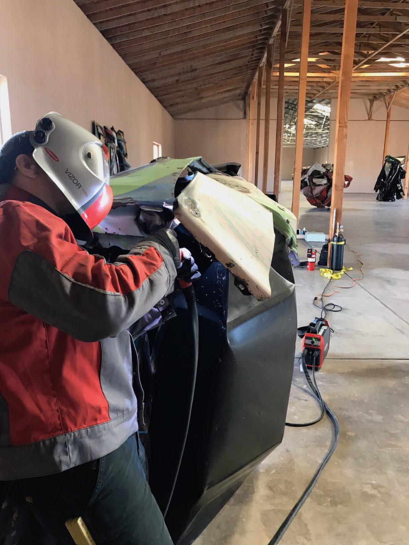 Repairs to welds on Roxanne Loup 1979 underway