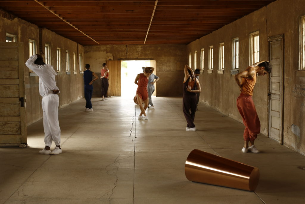 LA Dance Project performing in the Roni Horn installation