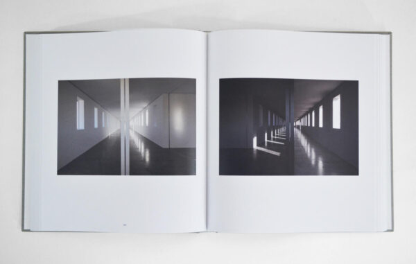 Robert Irwin: untitled (dawn to dusk) open to a page showing images from the book
