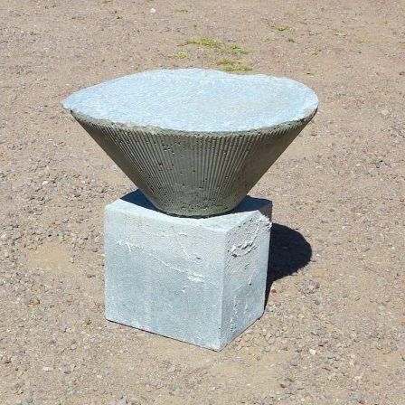 Student concrete furniture work.
