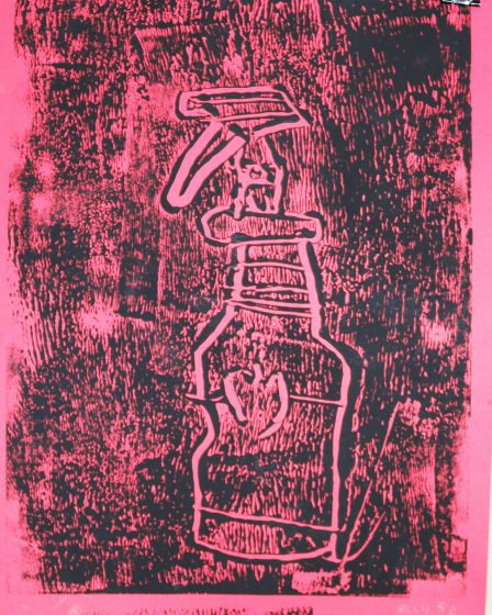 Student made monotype.