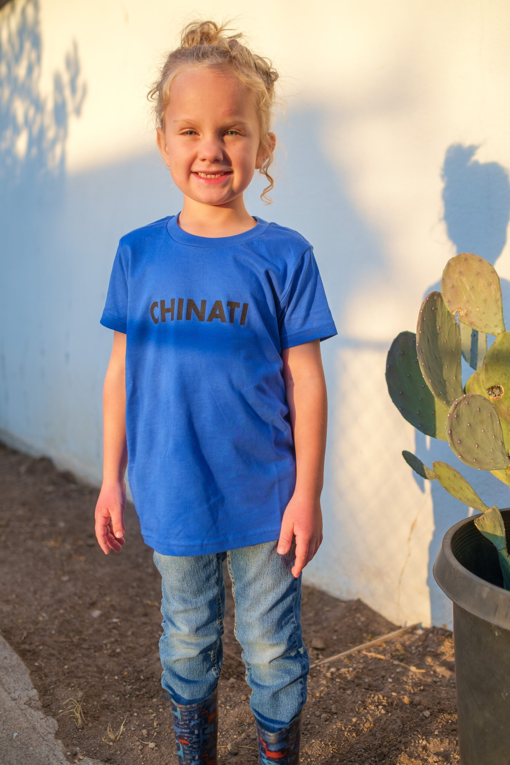 Wyld in the blue Chinati kid's tee