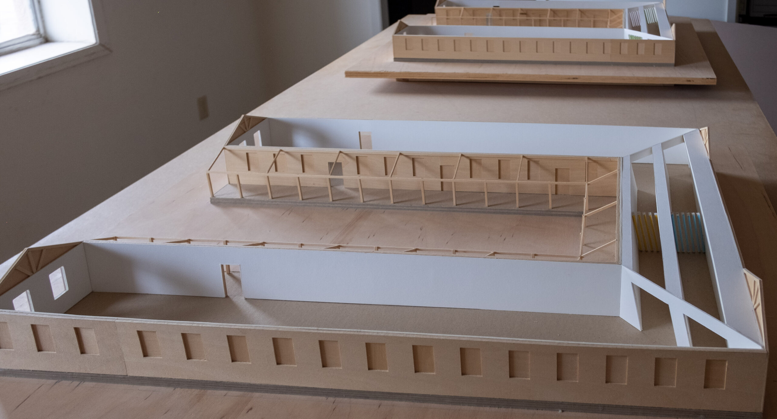 architectural models of Dan Flavin's untitled (Marfa project)